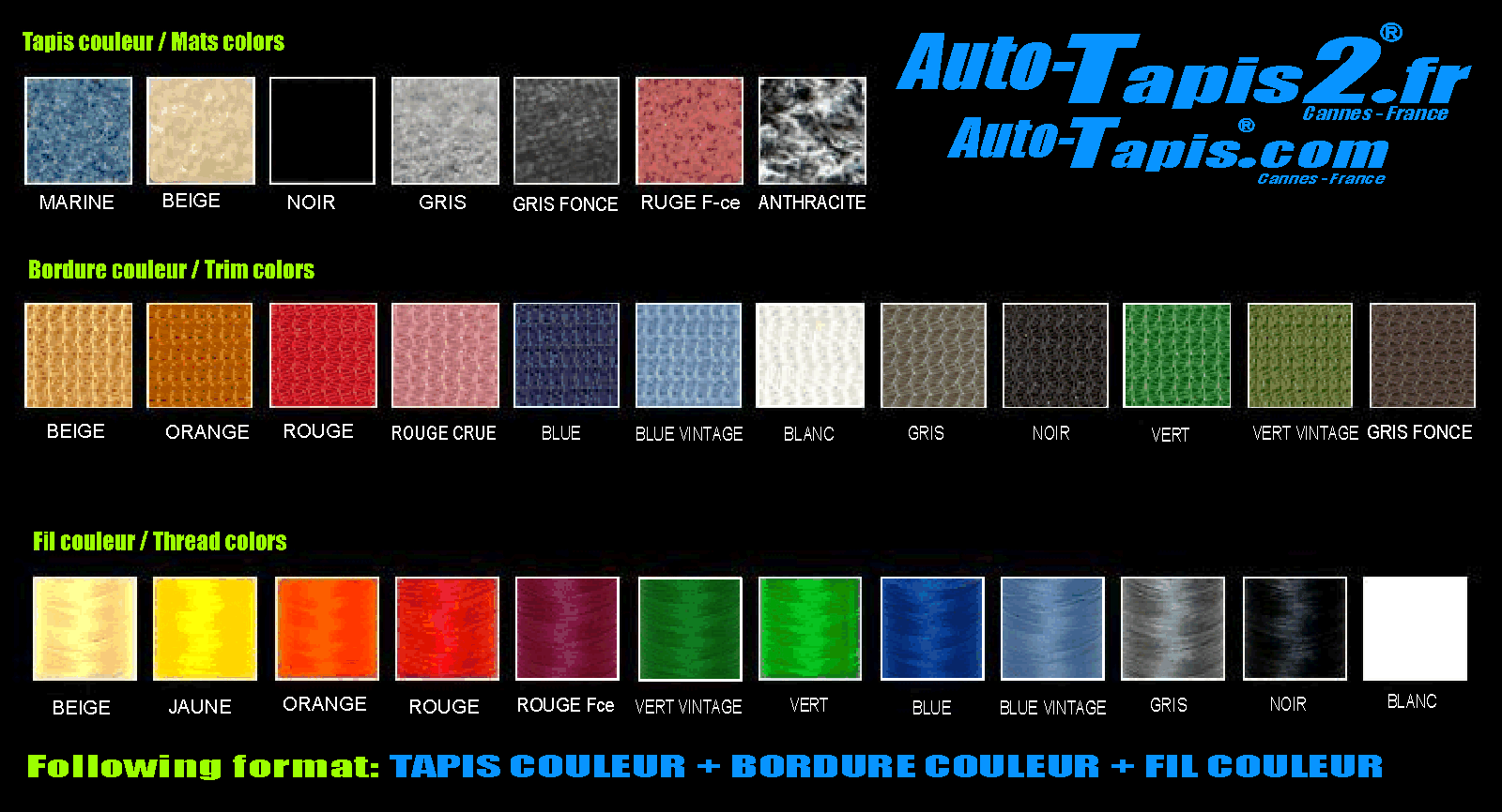 Textile car mats, Covers seats, Mini One Textile mats, Rubber mats, Tapis de sol, Boot liners, trunk Mtas,